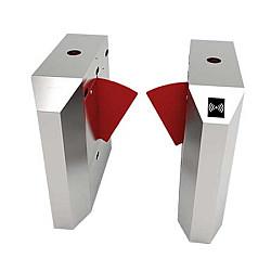 ZKTeco FBL2222 Flap Barrier Turnstile for additional Lane with controller and fingerprint & RFID reader)
