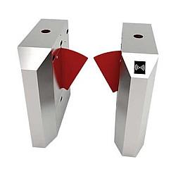 ZKTeco FB4022 Single Lane Flap Barrier Turnstile with  controller and fingerprint & RFID reader