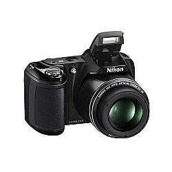 Nikon Coolpix L330 Compact Digital Camera (20.2 MP, 26x Optical Zoom) - Black