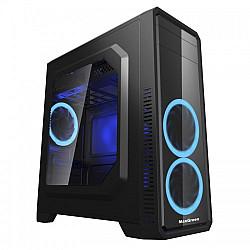 MaxGreen G561-F Blue Window ATX Casing