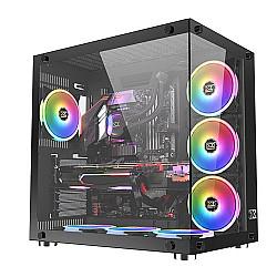XIGMATEK Aquarius Plus Black Tempered Glass ATX Case
