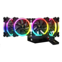 GAMDIAS AEOLUS M1-1204R RGB Chasis Fan Set