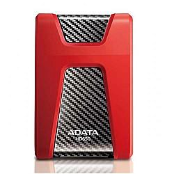 Adata HD 650 Drop Tested 1TB External HDD Red / Black