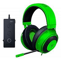 Razer Kraken Tournament Edition Green Wired Gaming Headset USB Audio Controller