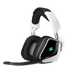 Corsair VOID RGB Elite Wireless Premium 7.1 Surround Sound Gaming Headset (White)