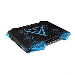 NUOXI Laptop Cooler 5 LED Fans Aluminium Cooling Pad