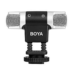 BOYA BY-MM3 Mini Omnidirectional condenser Condenser Stereo Shotgun Microphone