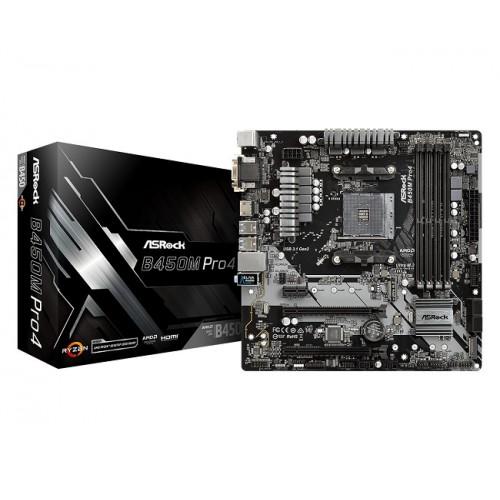 Asrock B450M Pro4 AMD Supper Alloy Motherboard
