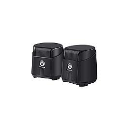 FanTech GS201 USB Wired Mini Subwoofer Speaker (Black)