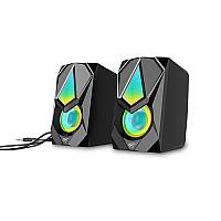 Havit HV-SK563 RGB USB 3.5mm Stereo Gaming Speaker (Black)
