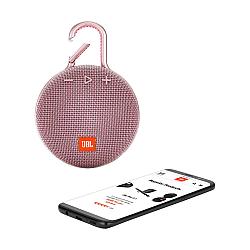 JBL Clip 3 Portable Bluetooth Speaker -Pink